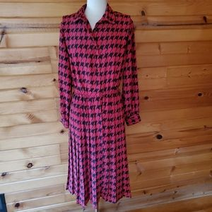 1980s Versailles, Made in USA, Red & Black Dress